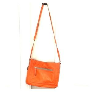 Leather Kate Spade Crossbody Purse - Orange